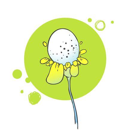 jardines con flores: Floral flores fondo. ilustraci�n de hierbas Vectores