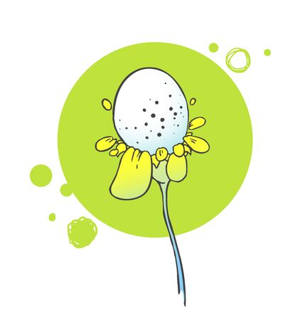 flower line: Flowers floral background. Herbal illustration
