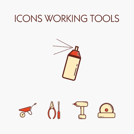 hank: Icons of various working tools. EPS 10