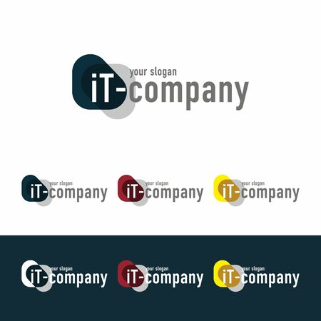 business it: Made in a flat style. Suitable for marketing , business , IT companies and other applications Illustration