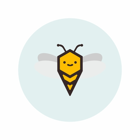 Abstract illustration of a bee. Possible to use as an element