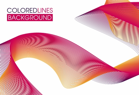 savers: Colorful abstract background . Multicolored interlacing lines stretching into the distance . Suitable for savers and for branding
