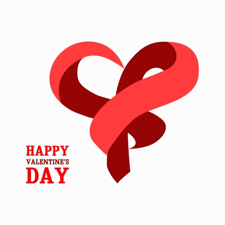 saint valentine s day: Abstract heart made of tape . Can be used as an icon or item for logo