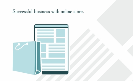 describing: Background describing what the online store . Suitable for websites, printed materials and other uses