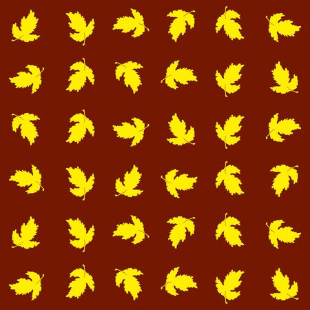 disordered: Seamless texture of autumn , in a disordered way. Suitable for holiday decoration , gifts and greeting cards Illustration