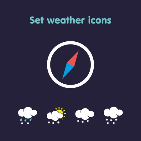 windy day: Beautiful weather icons in a variety of species Illustration