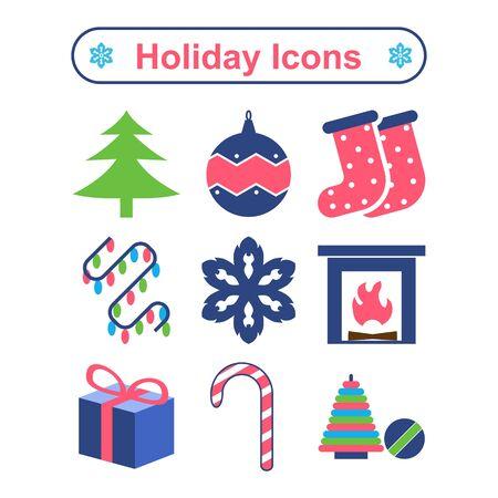 holiday: Holiday icons set