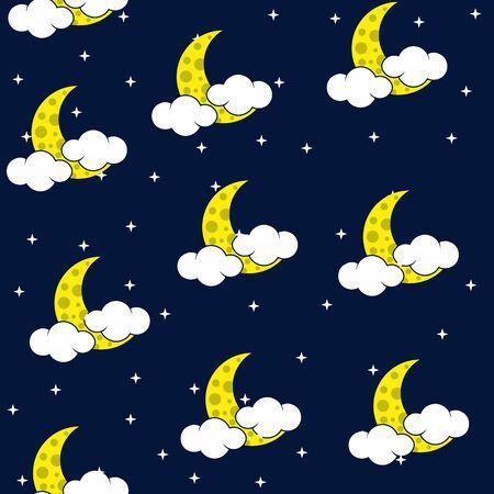 Naadloze textuur nachtelijke hemel