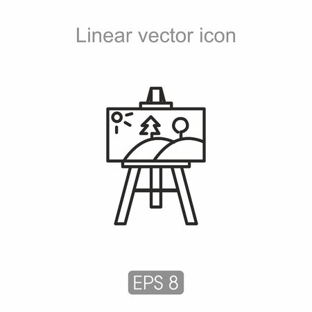 artist's canvas: Linear icon in black and white