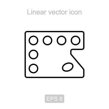 pallette: Palette. Linear vector icon.