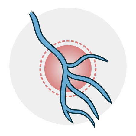 problems with veins icon Illustration