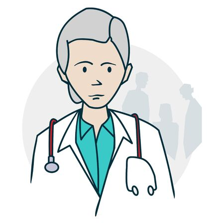 Doctor standing with a stethoscope