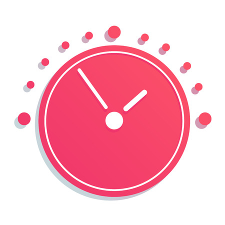 transience: Mechanical Clock simple Icon. Vector EPS8 icon Illustration