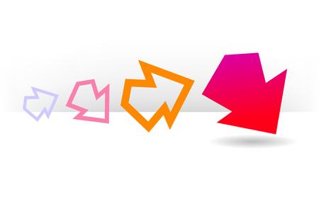 Graphic element arrows. Vector design elements EPS8