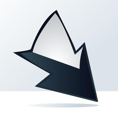 Arrows icon volume style. Vector design elements Illustration
