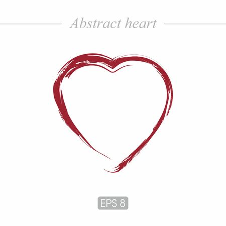 hot couple: Abstract, beautiful heart for postcards, web design. Heart icon in red