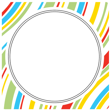 cloud: Cartoon and colorful circle frame Illustration