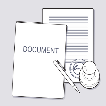 sheet: Approved document concept icon. Illustration vector EPS8