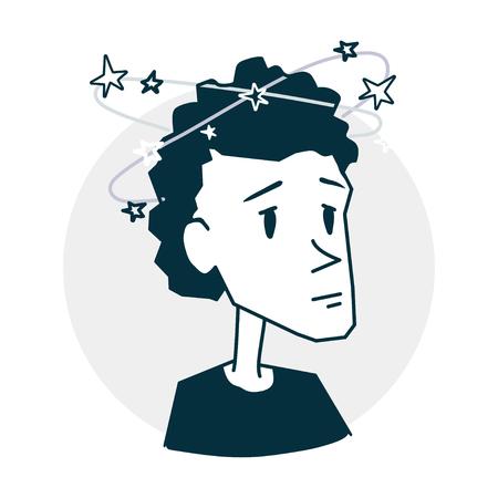 Person dizzy and headache