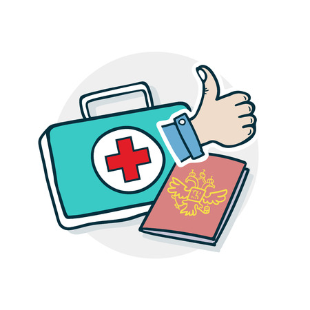 Services in the field of medicine icon.