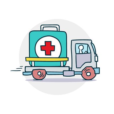 Levering van medische hulp pictogram