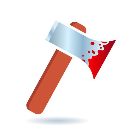 Bloody axe icon Illustration