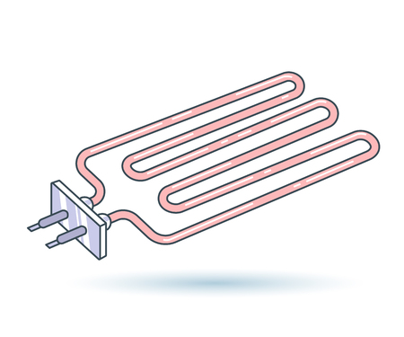Metal Pipe Radiator linear style. Vector icon EPS8