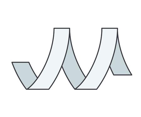 Icono lineal de cinta de metal ilustración vectorial.