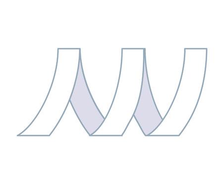 Metal tape linear icon Vector illustration. Stock Illustratie