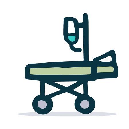 medical stretcher linear sketch icon. Vector Illustration EPS8 Vecteurs