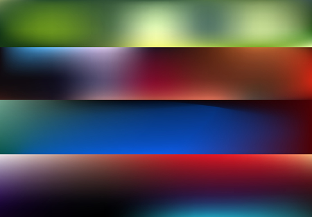 blurred abstract vector backgrounds set for bannerst. Nature backdrop for design. EPS 8