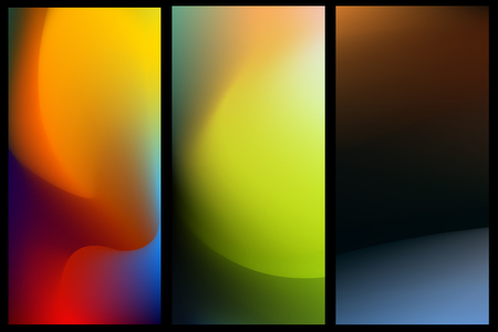 blurred abstract vector backgrounds set for banner. Nature backdrop for design. EPS 8