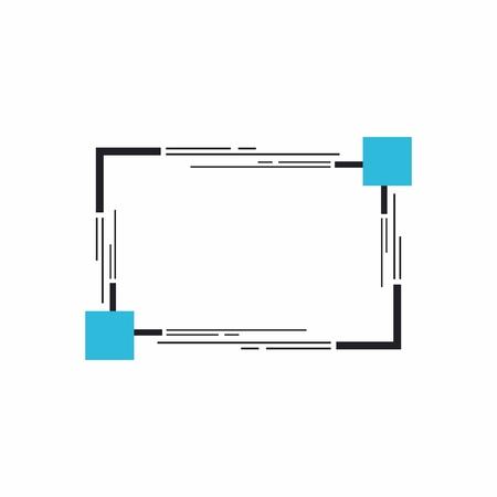 Rahmen für Text oder Banner. Webdesign von Bannern. Aktionen und Verkauf