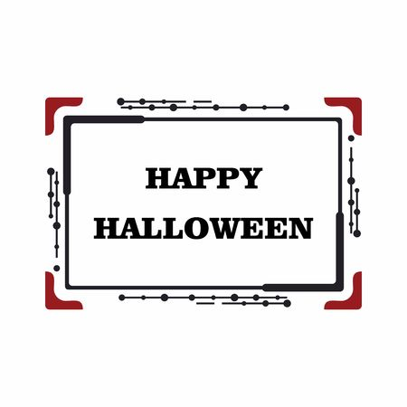 Vector frame for the holiday of Halloween. Text greetings, web site design, sale of goods. Illustration