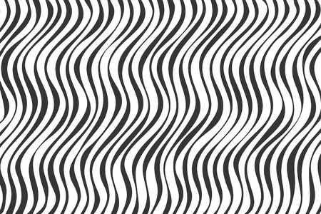 Black and white abstract wavy background. Geometric background