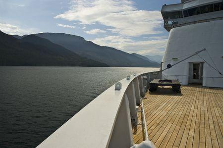 ship bow: Ship Bow in Alaskan waters