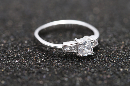 Beautiful diamond ring,Wedding ring Stock Photo