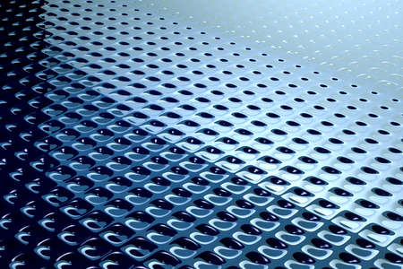 sensation: Surface-treated metal sheet. Wallpaper, 3-dimensional computer graphics. Background graphics. Stock Photo