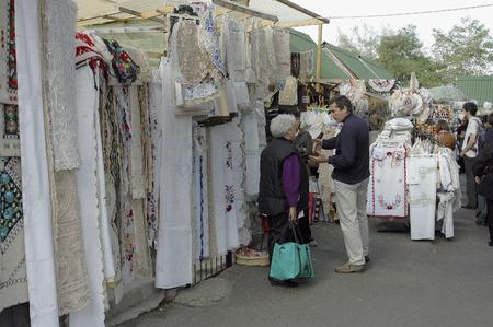 buda: Hungarian Folk Art Shops in the Buda Castle Quarter, on Budapest. Editorial