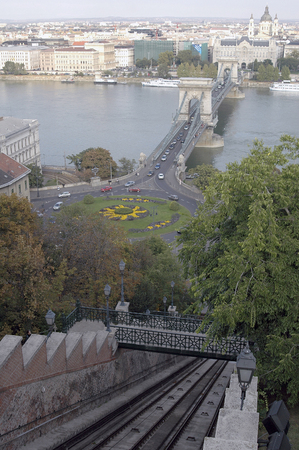 part of me: The Budavár cable-car (Hungarian: Budavári Sikló) a special railroad, Budapest I. in his circumference one of the devices of the Budavár palaces approach, UNESCO appears as the integral part of Budapests panorama on the banks of the Danube in the li