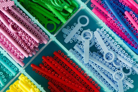 orthodontic: Colourful orthodontic ring