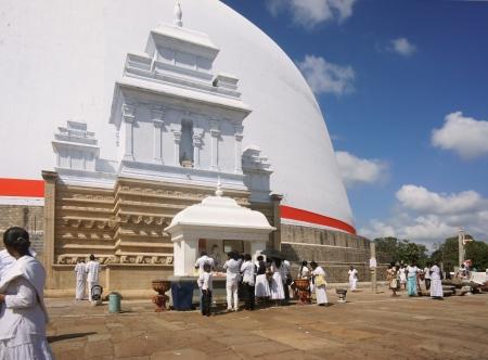 anuradhapura: Foot of stupa Ruvanvelisaya.  Anuradhapura city. Sri Lanka