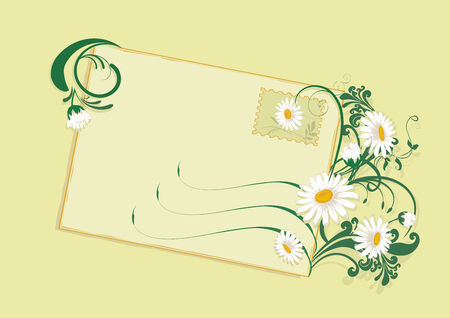 Summer flowers letter with daisies. Stock Vector - 3222808