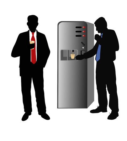 cappucino: Twee mannen-koffiepauze op het kantoor.