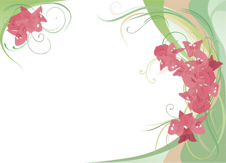 Abstract background with pink bougainvillea. Stock Vector - 4721534