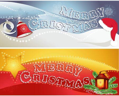 Christmas horizontal banners Illustration