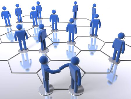 Business network model Stock Photo