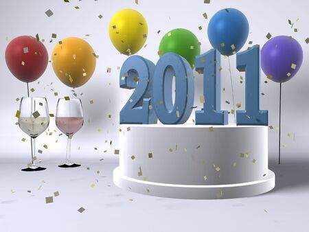 Happy New Year 2011! Stock Photo - 7929807