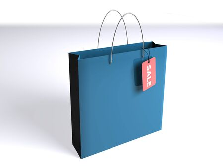 Shopping bag with a SALE tag