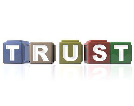 Building blocks - TRUST Stock Photo